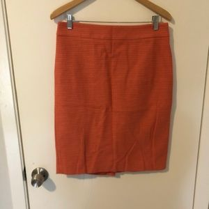 Ann Taylor NWT Orange Pencil Skirt